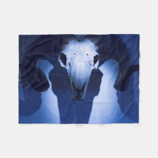 Ram Skull, Santa Fe, New Mexico. USA Fleece Blanket