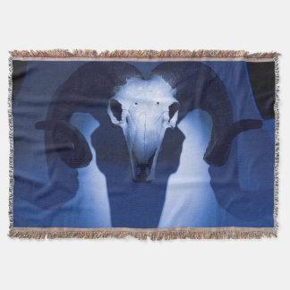 Ram Skull, Santa Fe, New Mexico. USA Throw Blanket