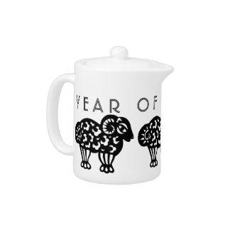 Ram Year Chinese Asrology Zodiac Teapot