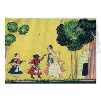Rama and Lakshmana accompanied by Visvamitra Cards