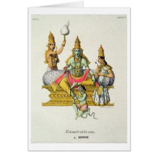 Rama, engraved by du Bouisi (colour litho) Card