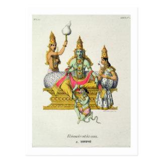 Rama, engraved by du Bouisi (colour litho) Postcard