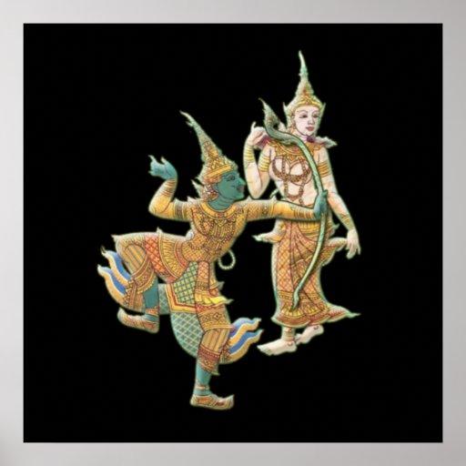 RAMA SITA - RAMAYANA HINDU BUDDHIST GOD POSTER