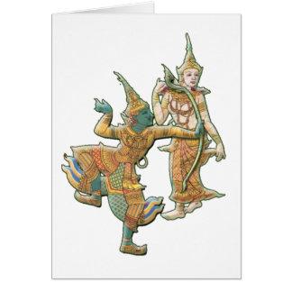 RAMA SITA - RAMAYANA HINDU BUDDHIST GODDESS GREETING CARD