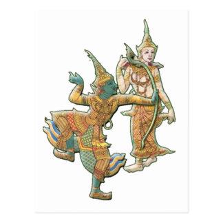 RAMA SITA - RAMAYANA HINDU BUDDHIST GODDESS POSTCARDS