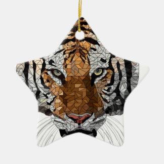 Rama the Tiger Ceramic Star Decoration