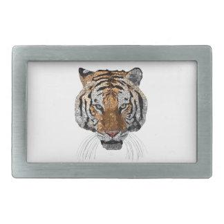 Rama the Tiger Rectangular Belt Buckles