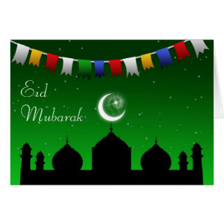Ramadan Eid Garland - Islamic Greeting Card