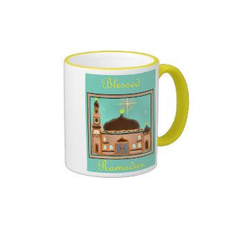 Ramadan Eid Mubarak Muslim Islamic Ringer Mug