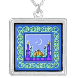 Ramadan Islamic Sterling Silver Pendant Necklace