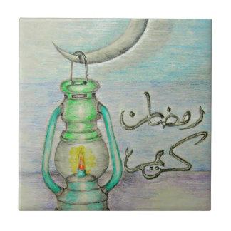 Ramadan lantern small square tile