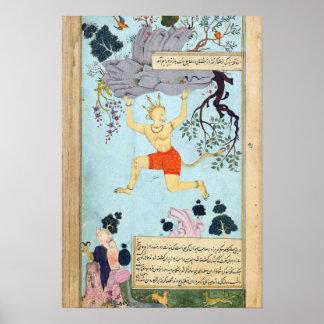 Ramayana Indian Miniature Painting Poster