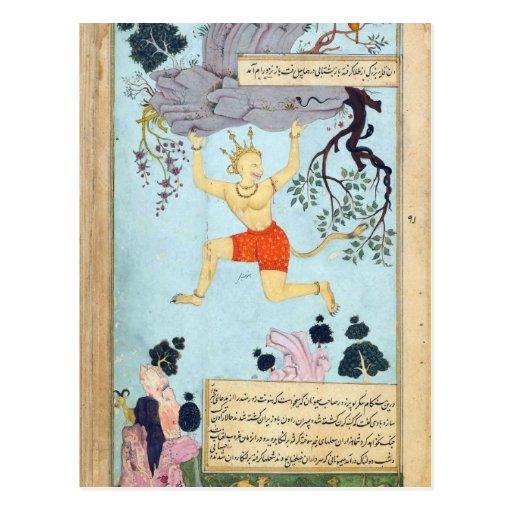 Ramayana Monkey God Postcards