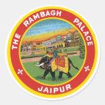 Rambagh Palace, Jaipur Label Classic Round Sticker