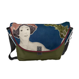 Rambler Bicycle Woman Graphic Bold Color Bikes Courier Bag