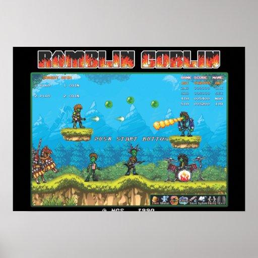 Ramblin Goblin 8bit Poster