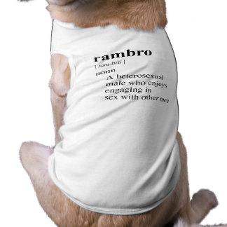 RAMBRO DOG T SHIRT