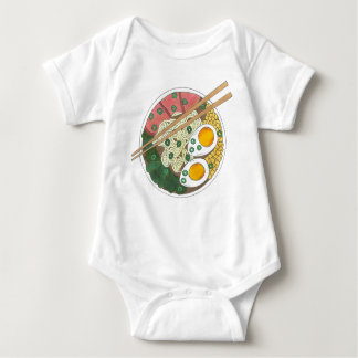 Ramen Noodles Bowl Japanese Food Restaurant Foodie Baby Bodysuit