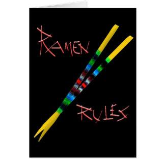 Ramen Rules Greeting Card