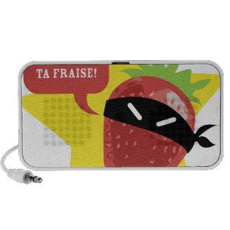 Ramène pas ta fraise !! © Les Hameçons Cibles Portable Speakers