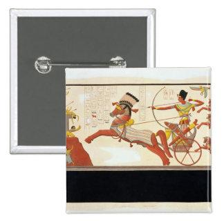 Ramesses II (1279-13 BC) at the Battle of Kadesh, 15 Cm Square Badge