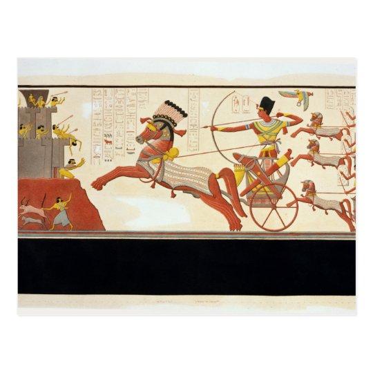 Ramesses II (1279-13 BC) at the Battle of Kadesh, Postcard