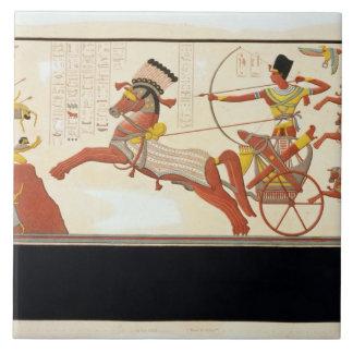 Ramesses II (1279-13 BC) at the Battle of Kadesh, Tile