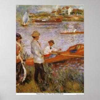 Rameurs a Chatou 1879 by Edouard Manet Print