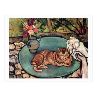 Raminou with Carnations by Suzanne Valadon Postcard