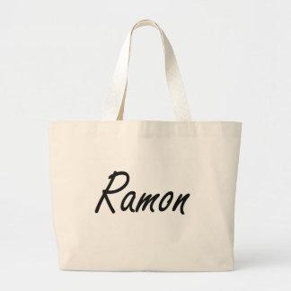 Ramon Artistic Name Design Jumbo Tote Bag