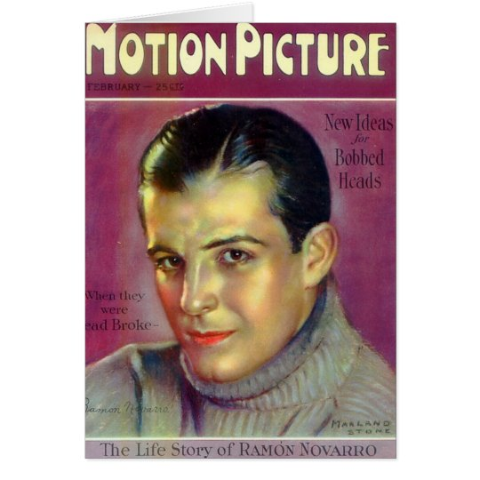 Ramon Novarro vintage illustration Card