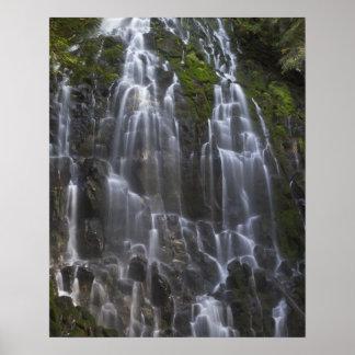 Ramona Falls in Clackamas county, Oregon Poster