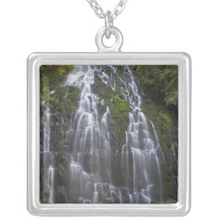 Ramona Falls in Clackamas county, Oregon Silver Plated Necklace
