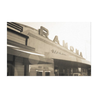 Ramona Theatre Stretched Canvas Print