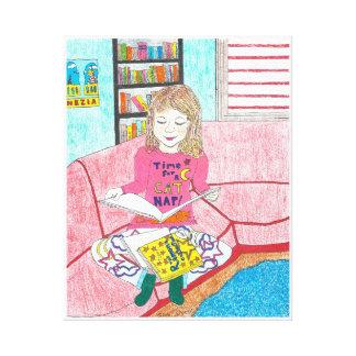 Ramona's Favourite Books, art on canvas Canvas Print