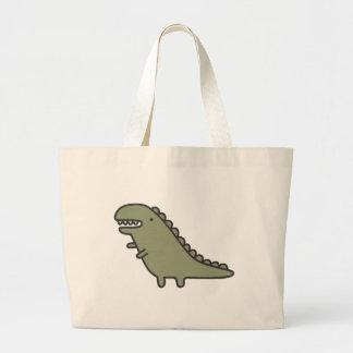 Rampaging Dinosaur! Large Tote Bag