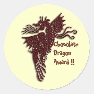 Rampant Chocolate Dragon envelope sealers Round Sticker