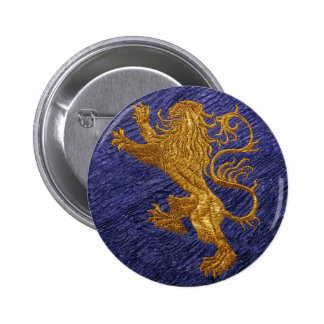 Rampant Lion - gold on blue Buttons