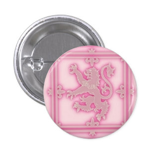 Rampant Lion Pink Glow Button