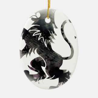 Rampant Lion Scotland Ceramic Oval Decoration