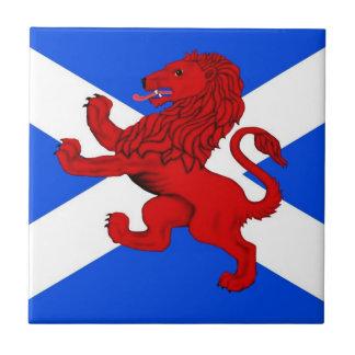 Rampant lion Scotland s flag Tiles