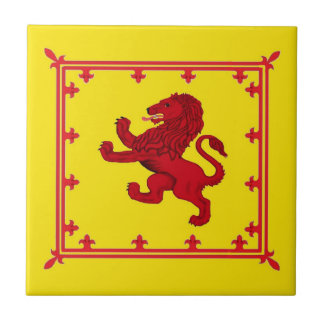 Rampant lion, Scotland's ancient flag Tile