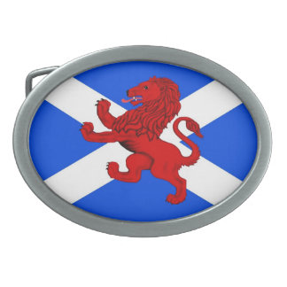 Rampant lion / Scotland's flag Oval Belt Buckle