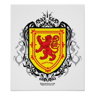 Rampant Lion Tribal Poster