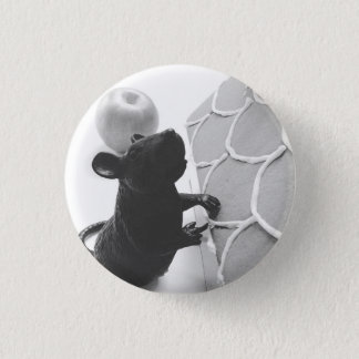 Rampant Rat Attacks Gingerbread Home 3 Cm Round Badge