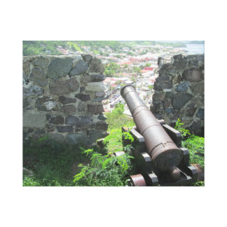 Rampart Cannon Fort Louis. Gallery Wrapped Canvas