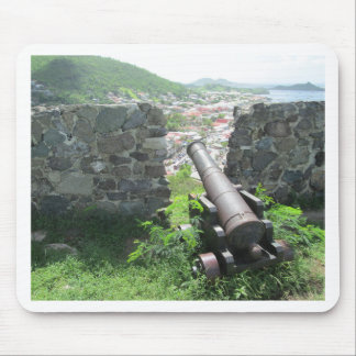 Rampart Cannon Fort Louis Mouse Pad