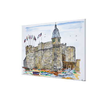 Ramparts  & Gate of Concarneau | Brittany, France Canvas Print