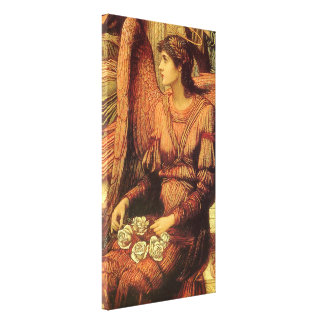 Ramparts of God's House, angel detail by Strudwick Canvas Print