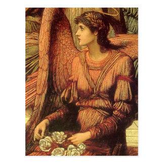 Ramparts of God's House, angel detail by Strudwick Postcard